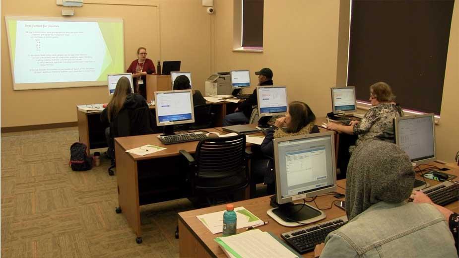 Adults Refresh Job Hunting Skills