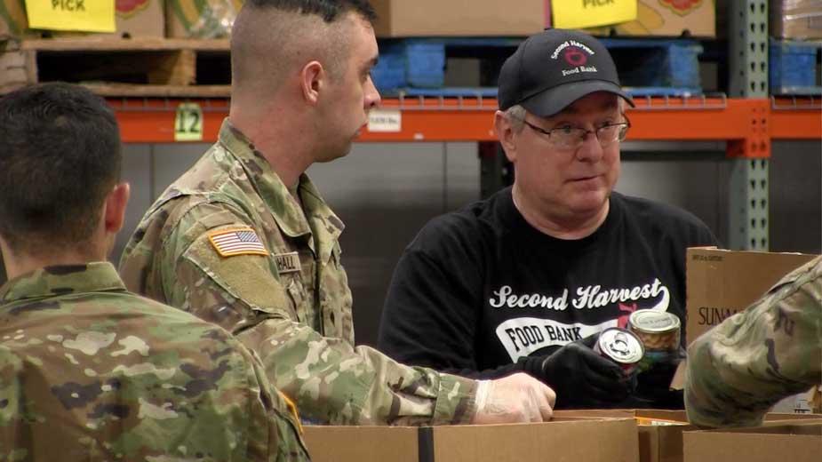 National Guard Begins Work at Food Bank